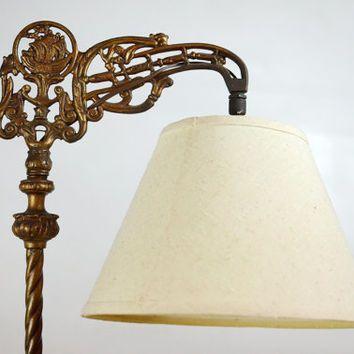 RARE Vintage Art Deco Floor Lamp, Antique Floor Lamp, Elaborate ...