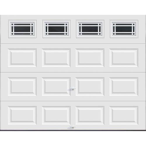 Ideal Door Reg 5 Star Prairie 9 Ft X 7 Ft White Insulated Garage Door With Ez Set Reg Spring Garage Doors Menards Garage Doors Garage Door Insulation