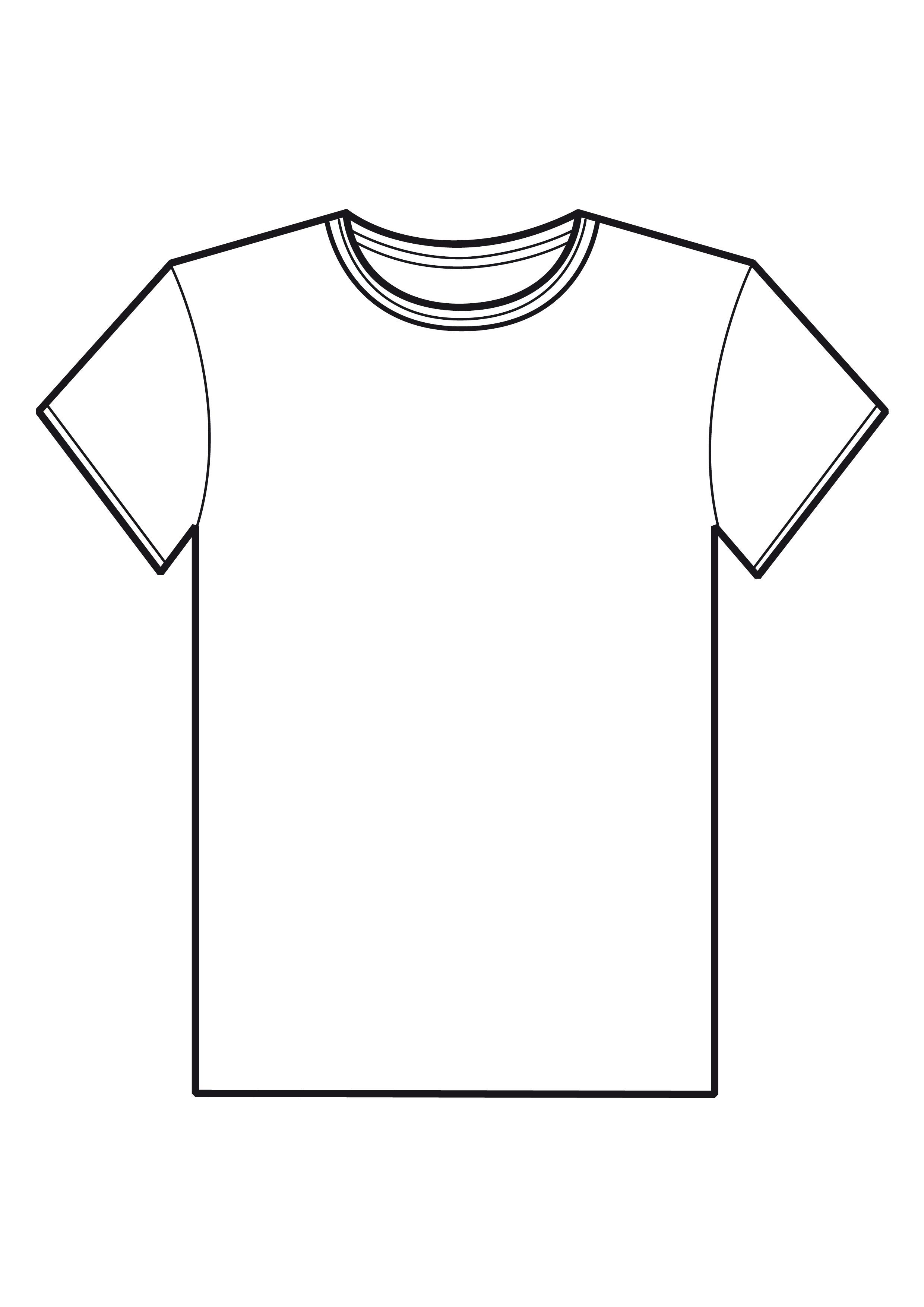 2491 Views Blank T Shirts Coloring Pages T Shirt Picture