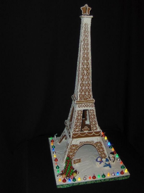 Eiffel Tower Gingerbread houses Pinterest Gingerbread, Tower