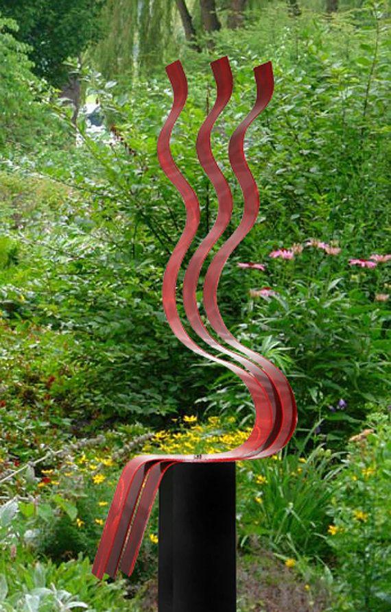 Abstract Metal Sculpture Indoor Outdoor Art Large Yard Sculpture