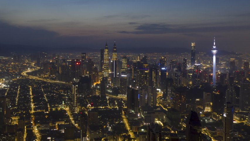 Time Lapse Aerial City View Stock Footage Video 100 Royalty Free 1044372439 In 2020 City View Aerial Kuala Lumpur City