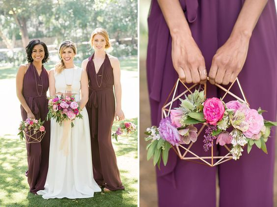 Geometric Bridesmaid Bouquet