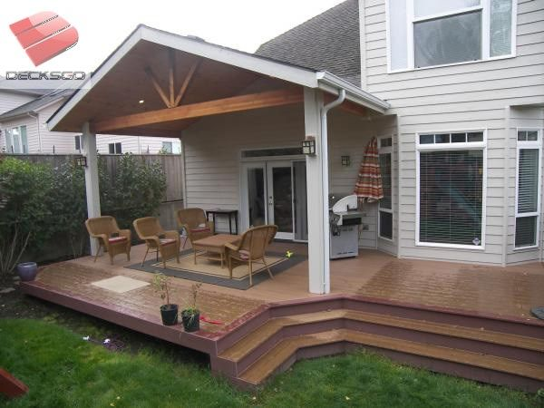 Craftsman Style Covered Deck Photo Covered Patio Design
