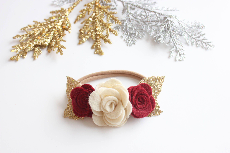 Christmas headband christmas flower headband christmas felt flower christmas headband christmas flower headband christmas felt flower crown christmas felt flower headband izmirmasajfo