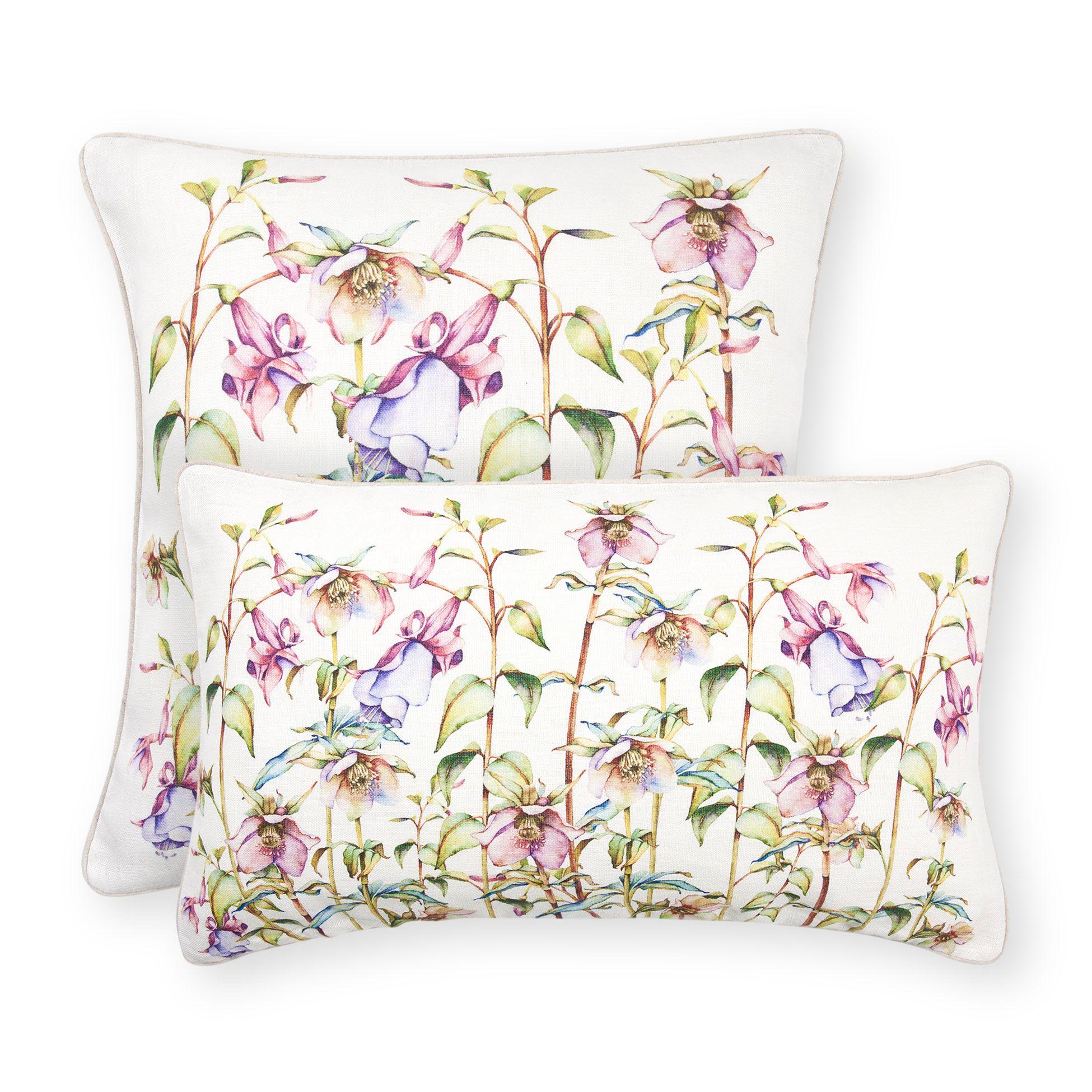 Coj n flores pastel cojines cama zara home espa a for Cojines exterior zara home