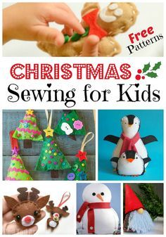 FREE Kids' Sewing Projects for Christmas is part of Kids Crafts Christmas Sewing Projects - As may know, I am a big fan of teaching kids (or anyone) basic crafting skills… and sewing is one such skill  I think everyone should be able to do the basics of sewing   from sewing on a button to simple sewing projects for kids  I have what is I hope a great article …