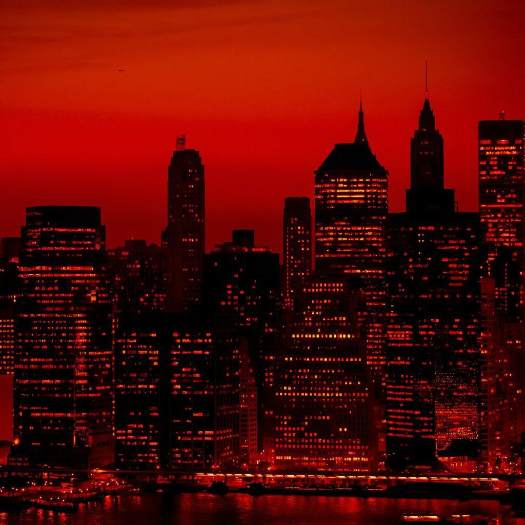 Red Sky At Night New York City Ipad Wallpaper Download Iphone Wallpapers Ipad Wallpapers One Stop Download Red And Black Wallpaper Red Sky Sky Aesthetic