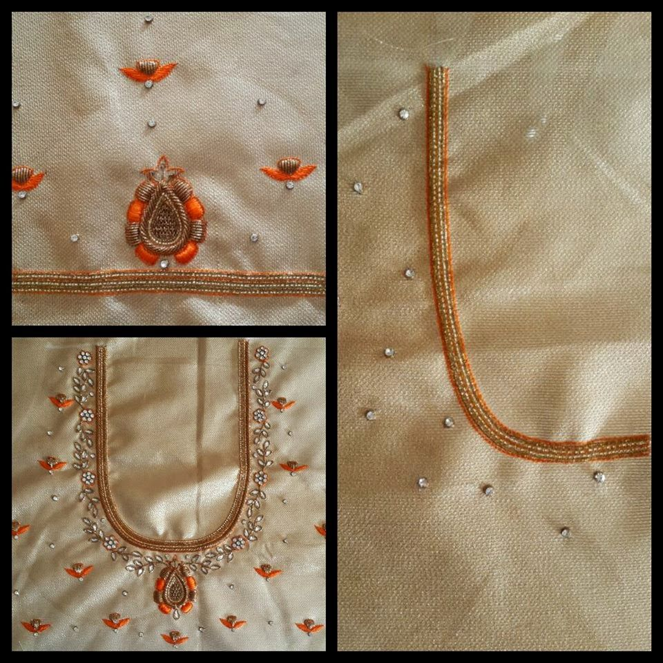 Sparkling fashion simple designer work blouses for pattu