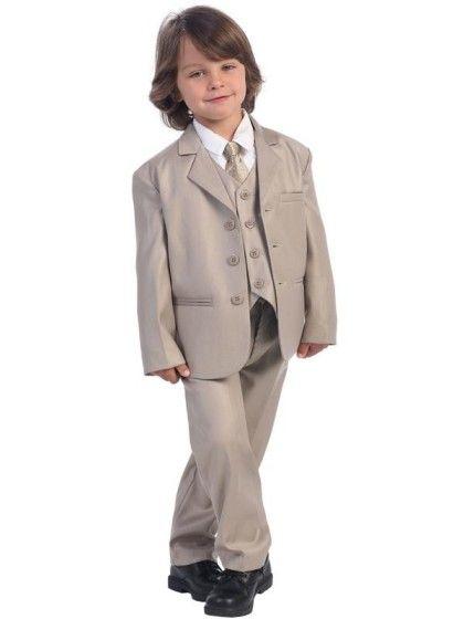 f844eba4 Lito Classic Khaki Boy's 5-Piece Suit at DapperLads | Wedding ...