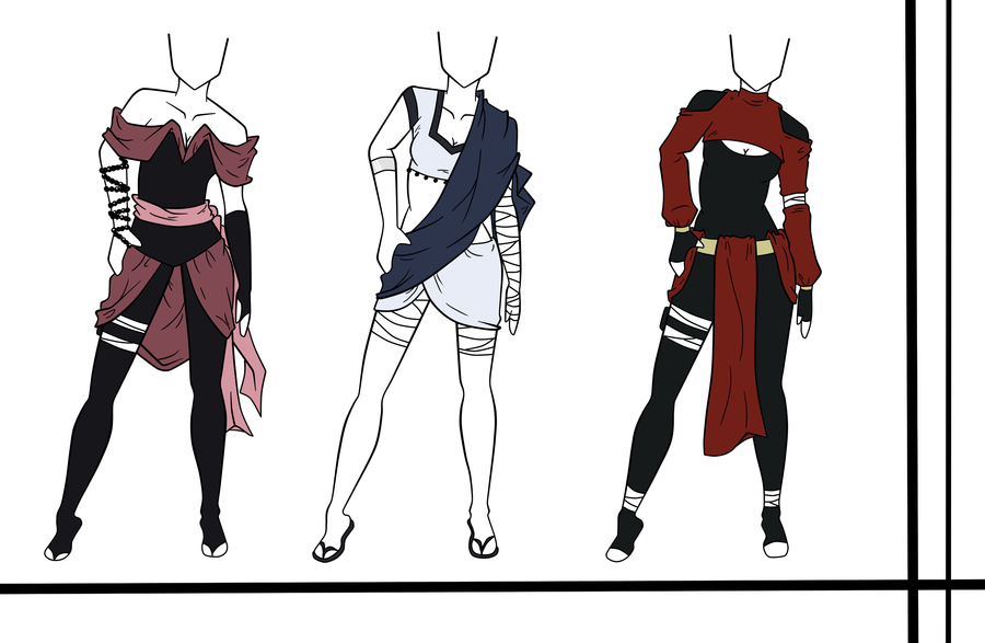 Adoptables Outfit Set 11 Closed By Hardydytonia On Deviantart Drawing Anime Clothes Art Clothes Ninja Outfit