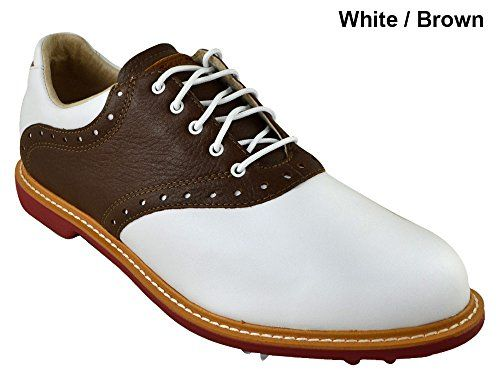 d41d641bacf4d Ashworth Kingston Golf Shoes 2014 White Tan Brown Bordeaux Medium 11 ...