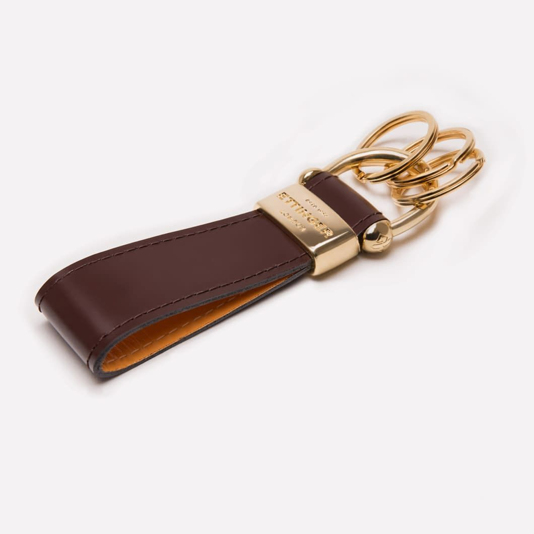 6389af09f Ettinger London - Luxury Leather Goods - Bridle Hide Nut Stirrup Key ring