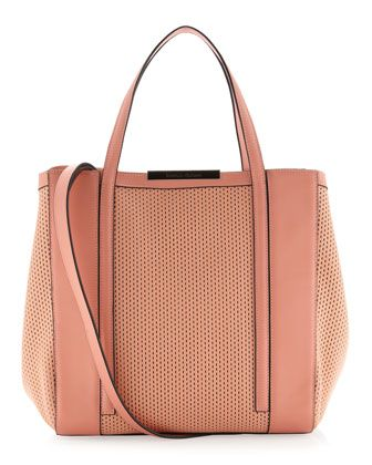 c16245f07 Baily Perforated Block Tote Bag, Coral by Charles Jourdan at Last Call by Neiman  Marcus.