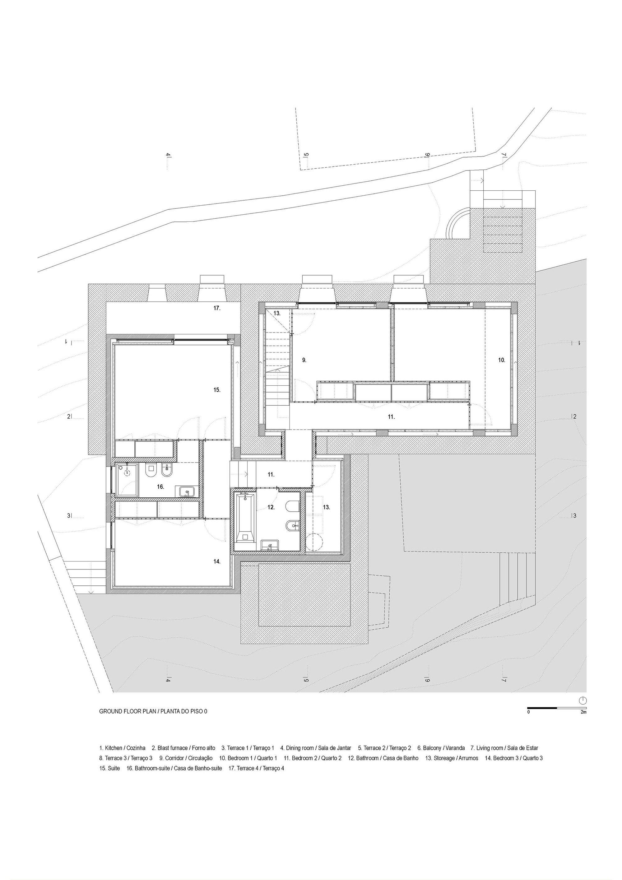 Gallery Of E C House Sami Arquitectos 11 Floor Plans Ground Floor Plan House