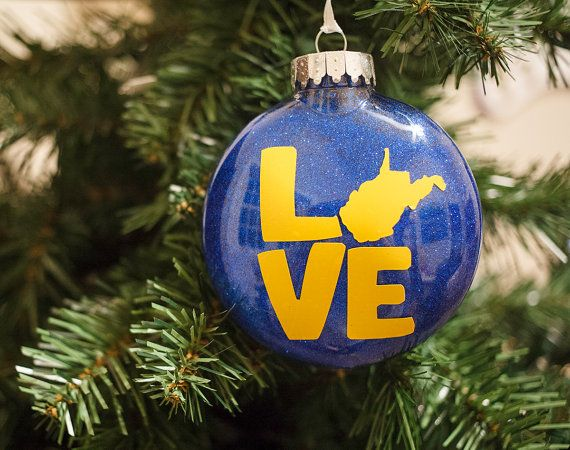 Love My State West Virginia Ornament by HandmadeEscapade on Etsy - Love My State West Virginia Ornament By HandmadeEscapade On Etsy