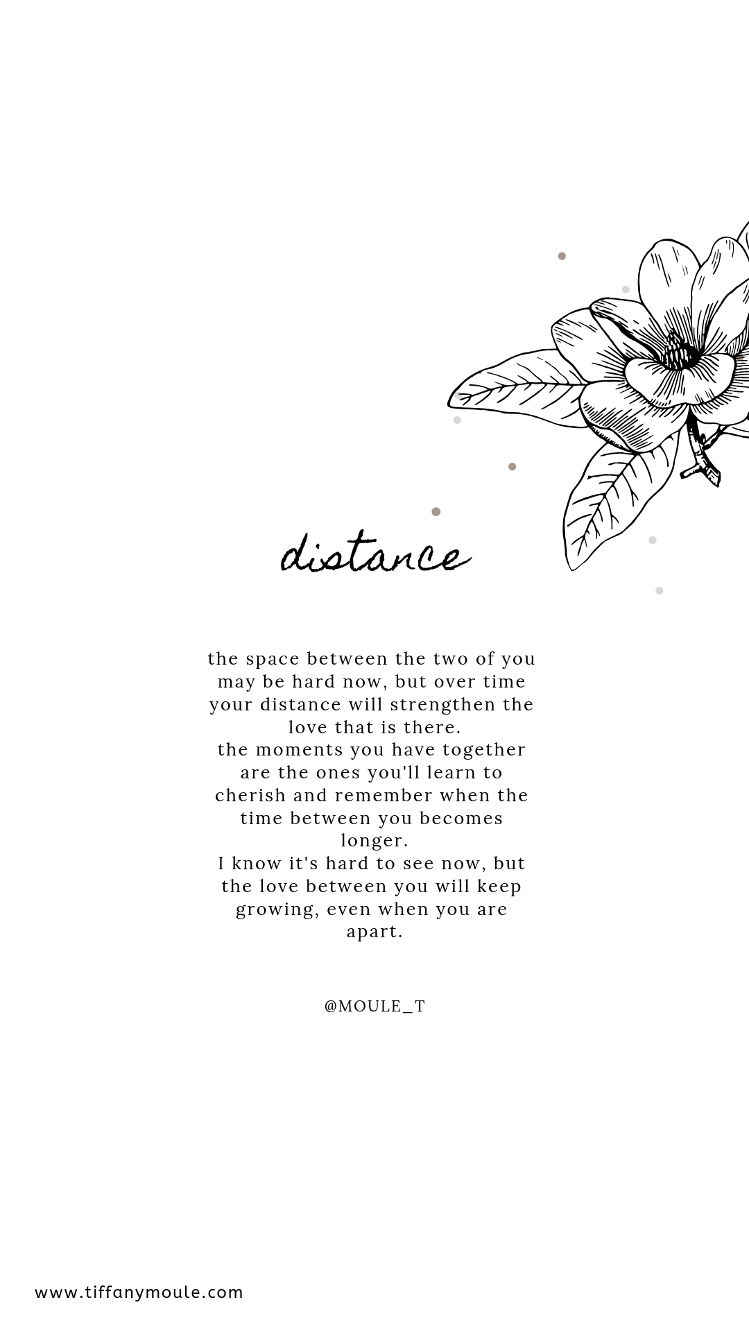 Distance Relationships don't mean you're growing apart, but you're growing together in diff. places