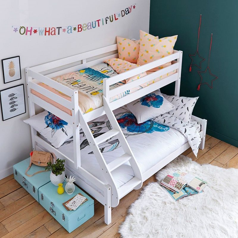 lits superpos s 3 couchages meeting blanc la redoute interieurs meubles et d co la redoute. Black Bedroom Furniture Sets. Home Design Ideas