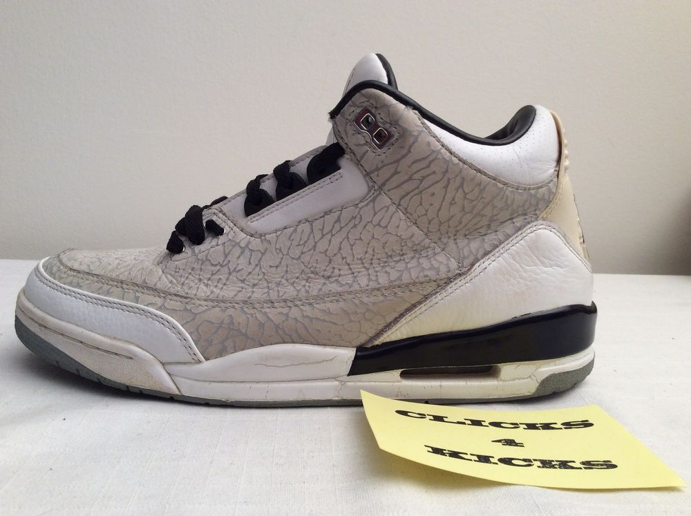 241372d98565 Nike Air JORDAN RETRO 3 III FLIP CEMENT GREY WHITE  315767-101  Mens Size  10.5  Nike  BasketballShoes