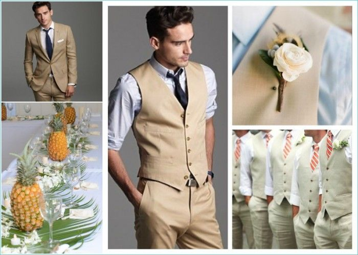 Mens Tan Beach Wedding Suit Judithsfreshlook Com Mens Beach Wedding Attire Mens Wedding Attire Beach Wedding Attire