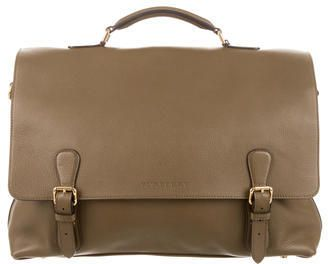 Burberry Pebbled Leather Briefcase