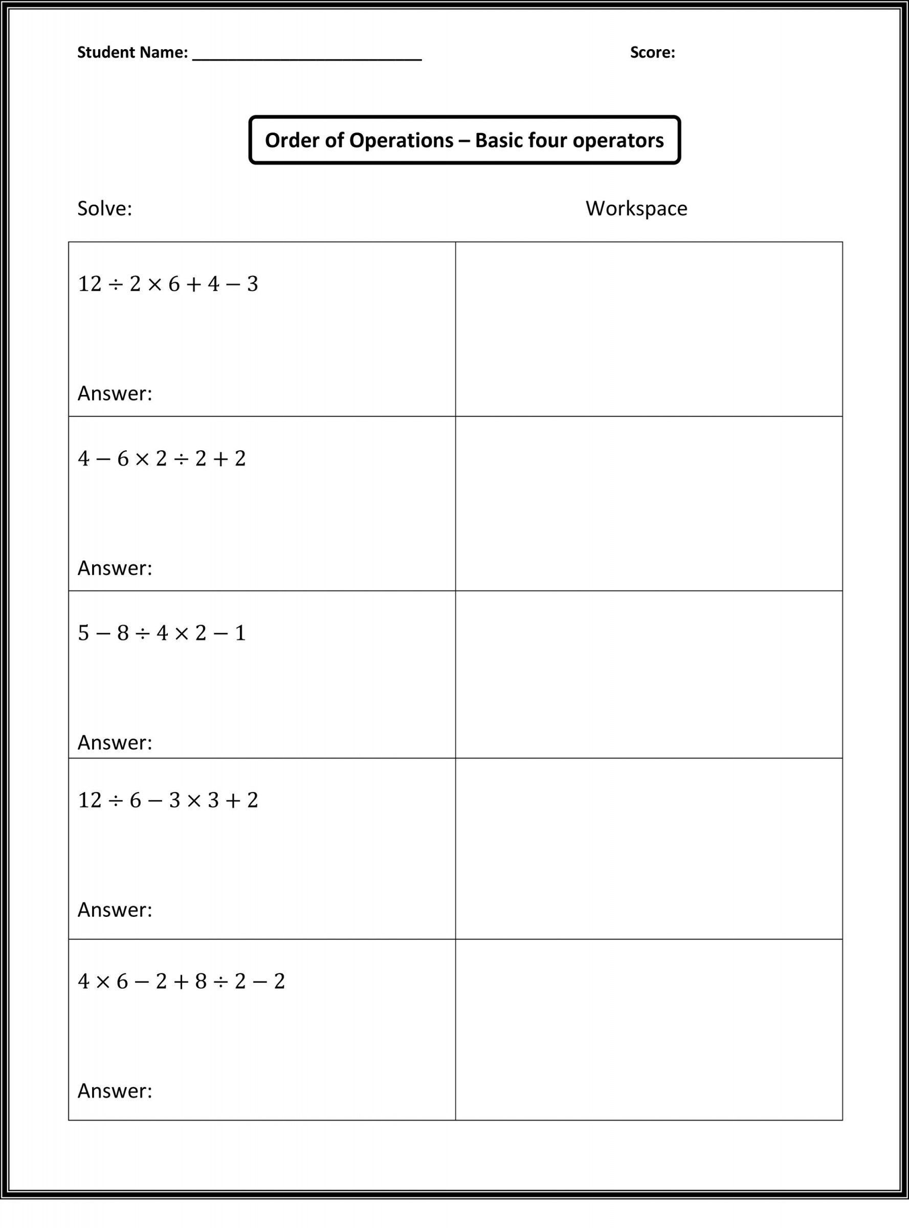 Inspirational 6th Grade Math Worksheets With Answer Key Free