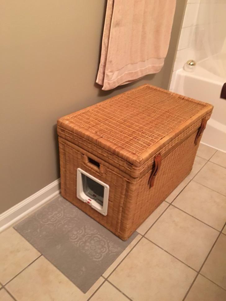 Diy stealth litter box hidden litter boxes litter box