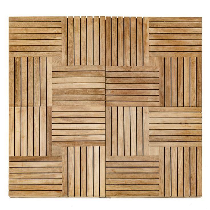 Parquet Wood Deck Teak Tiles Koltuklar