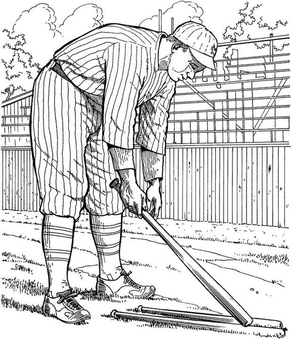 baseball game coloring pages Pitcher Baseball Coloring Page