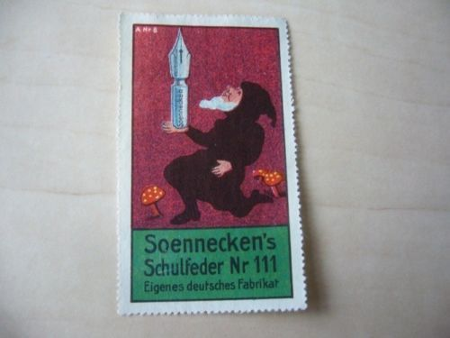 KDD - OLD POSTER STAMP - SOENNECKEN'S SCHULFEDER FOUNTAIN-PEN MUSHROOM - 94 | eBay