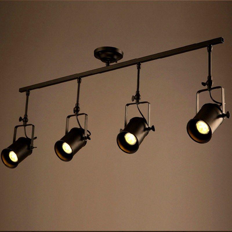 Designer Track Lighting Expandable Retro Loft Vintage Led