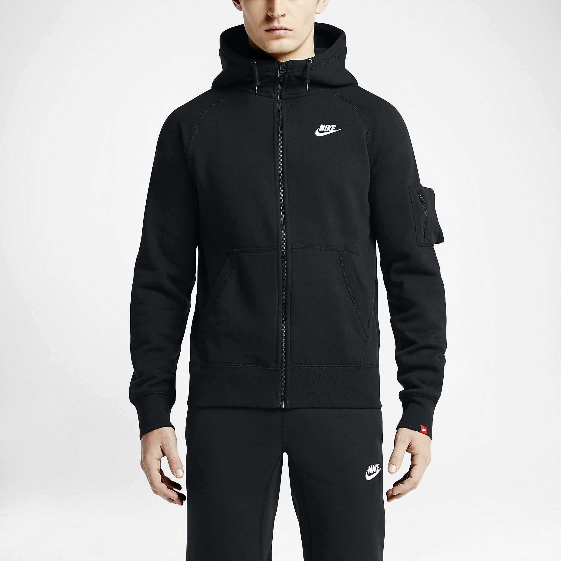 167d1657d7 Nike AW77 Fleece Full-Zip Men's Hoodie. Nike Store | Clothing ...