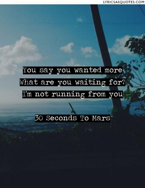 30 Seconds To Mars The Kill: You say you wanted more What ...