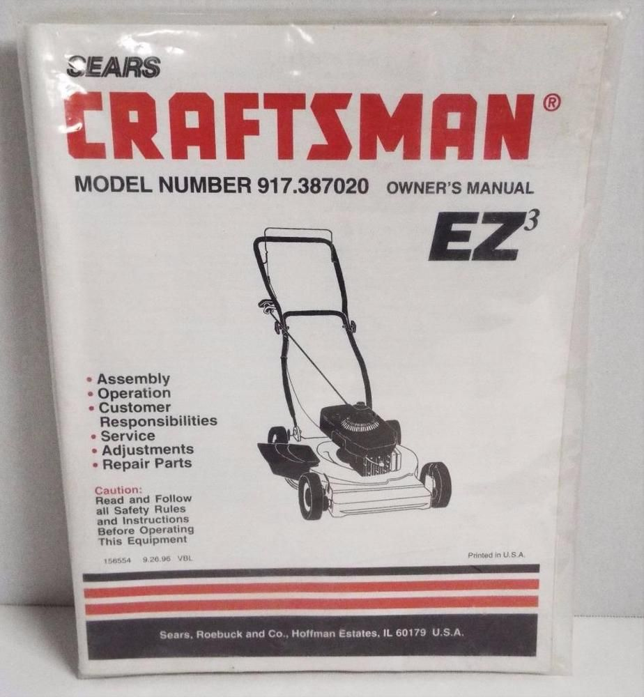 Details about Sears Craftsman EZ3 4 5 HP Walk Behind Push