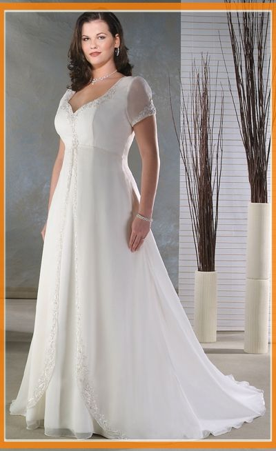 Plus size casual wedding dresses 07 for Simple casual wedding dresses