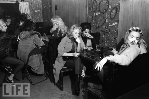Hells Angel old ladies, 1965.