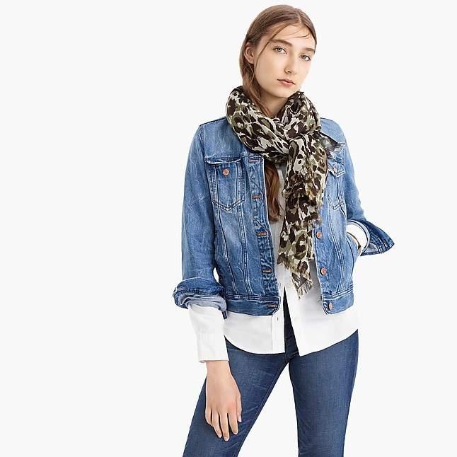 8fb26277fd1b7 J.Crew Midseason scarf in leopard   Products   Womens scarves ...