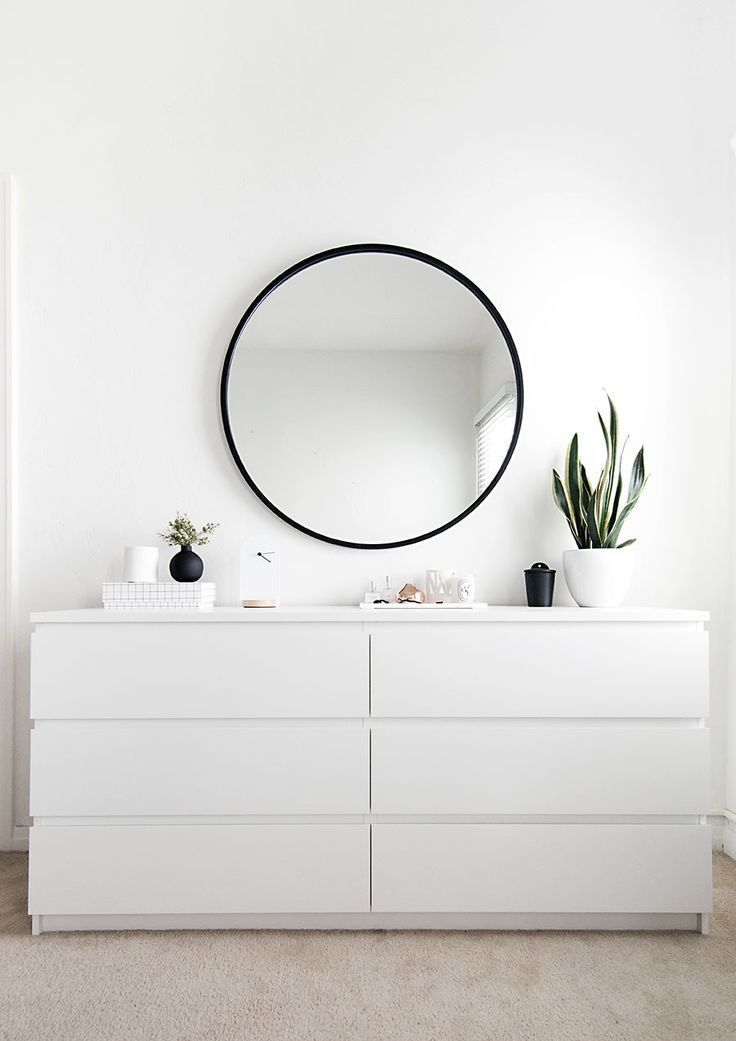 Commode IKEA MALM en blanc
