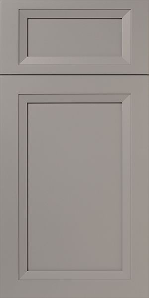 Cool Gray Cabinet Door with French Mitered Construction ...