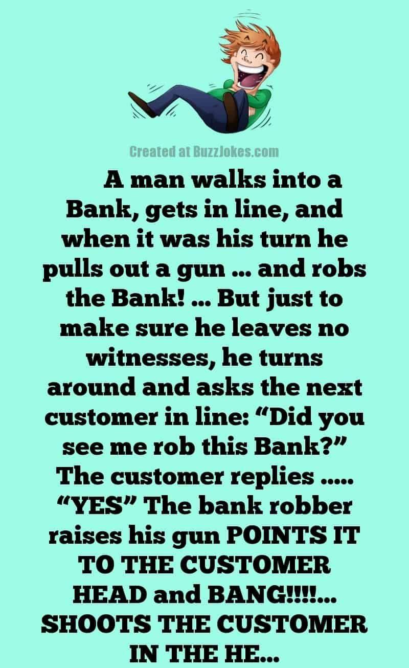 Funny Husband Wife Clean Joke Bank Robbery Witness in