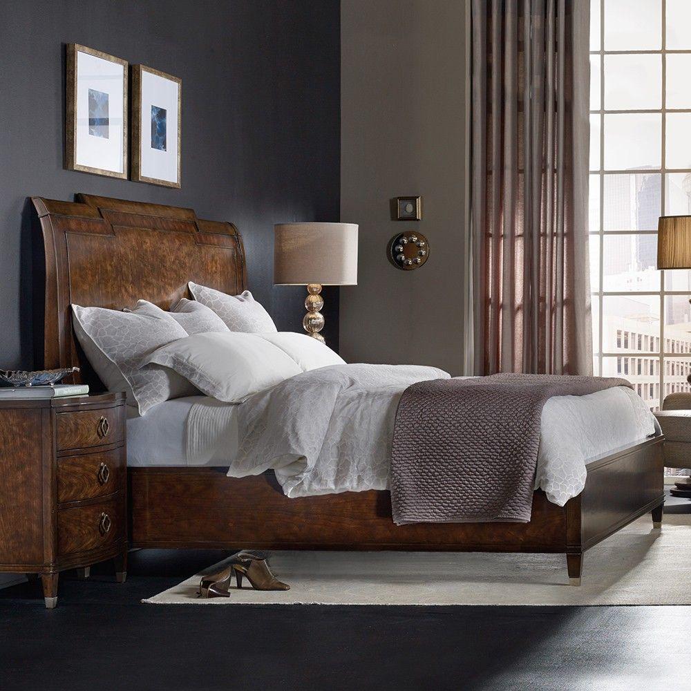 Cheap Bedroom Furniture Online: Skyline Wood Platform Bed By Hooker Furniture