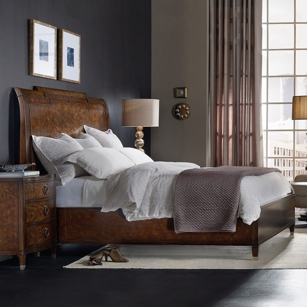 Cheap Discount Furniture Online: Skyline Wood Platform Bed By Hooker Furniture