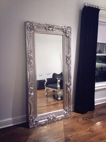 Grand Beau Wall Mirror 6ft x 3ft- Silver Leaf - Client Photo ...