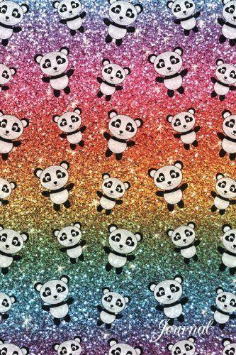Robot Check Cute Panda Wallpaper Panda Background Rainbow Glitter
