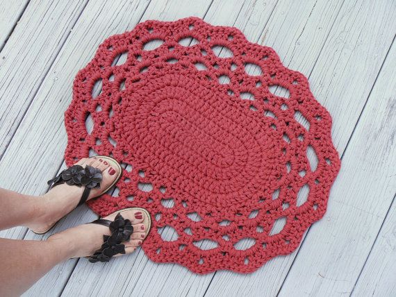 Tappeto Ovale Alluncinetto : Pick your color rug cotton oval lace thick by makingsofshannatice