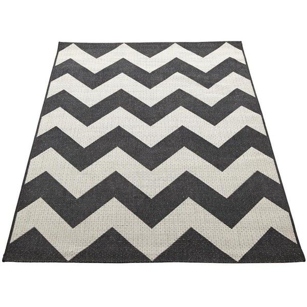 Chevron Flatweave Rug 32 Liked On Polyvore Featuring