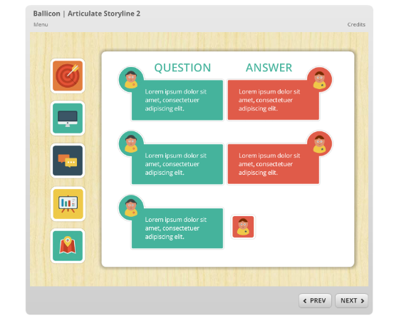 Free Storyline 2 Icon-Based Template