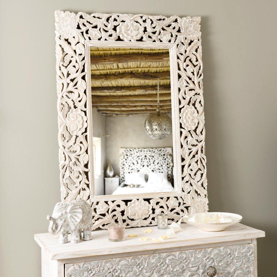 Maisons du monde - miroir en bois sculpté   miroir   Pinterest ...