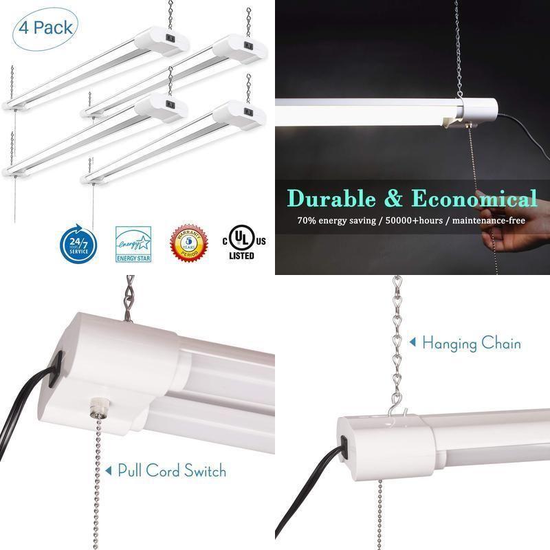 leve 48 led shop light linkable for garage double