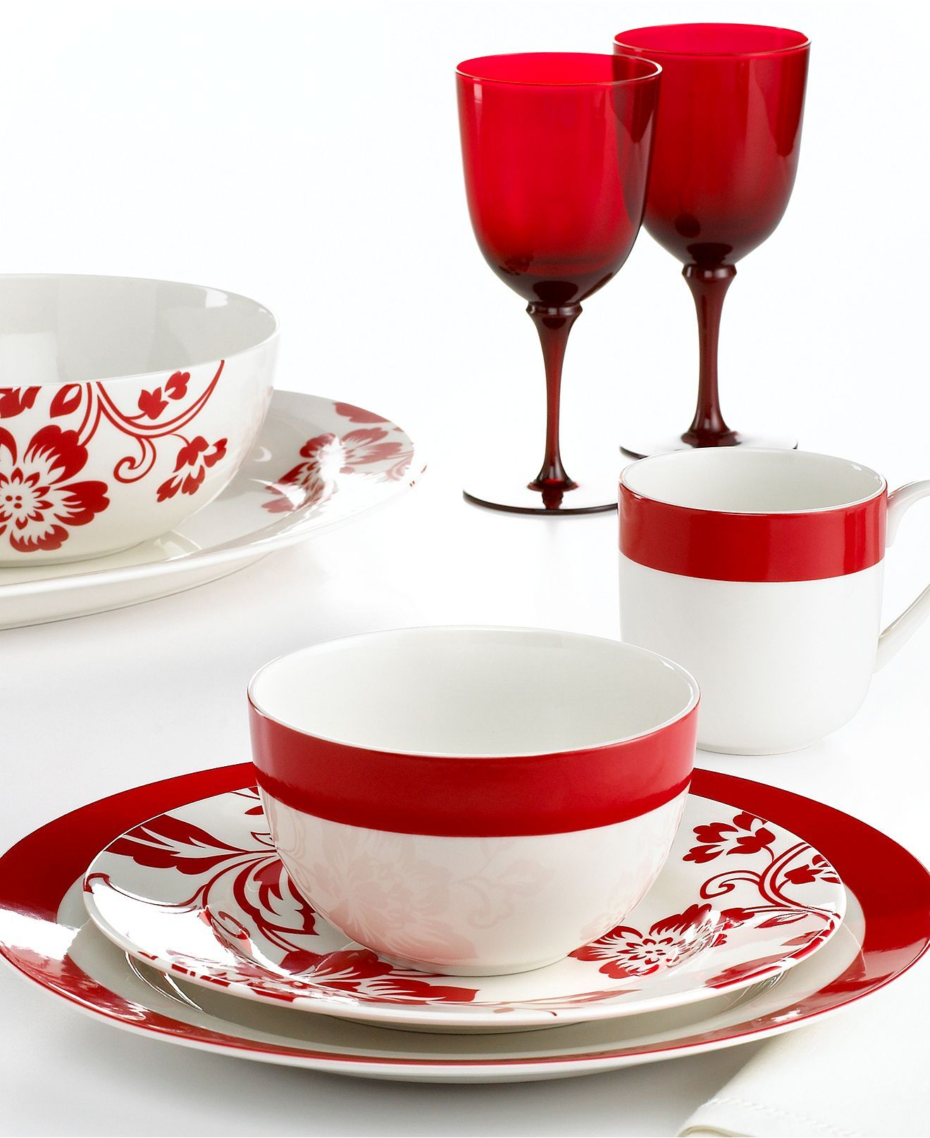 Chelsea and Classic Band Dinnerware in Red Our Chelsea dinnerware also coordinates with Classic Band dinnerware. White Dinnerware ...  sc 1 st  Pinterest & Martha Stewart Collection Dinnerware Chelsea Mix and Match ...